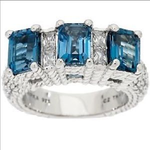 JUDITH RIPKA, London Blue Topaz Ring!